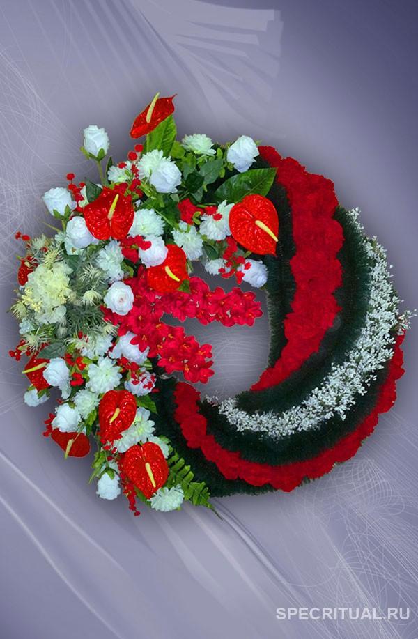 Венки ритуальные из искусственных цветов фото